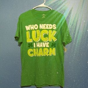 NWT St. Patrick's Day Luck & Charm Graphic T-shirt